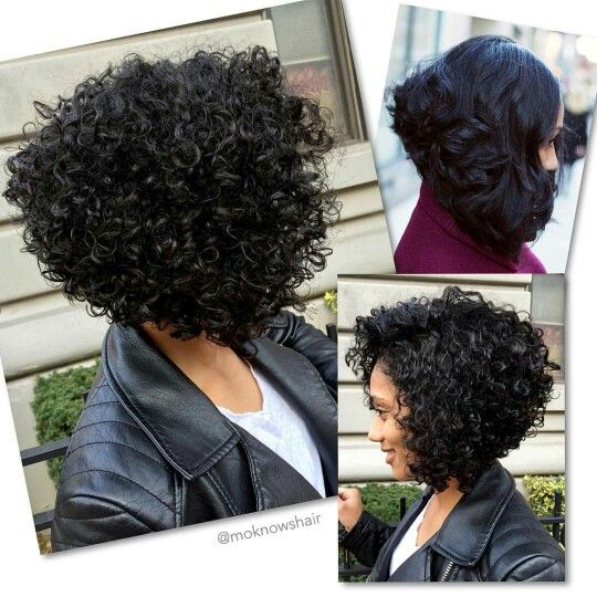 Short Curly Bob Hairstyles By Lena Scott On Natural Hurr Short
