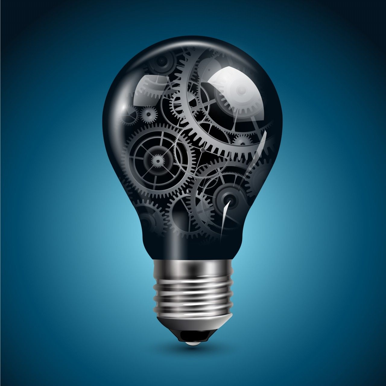 Wallpapers Digital Lightbulb Light Bulb With Gears