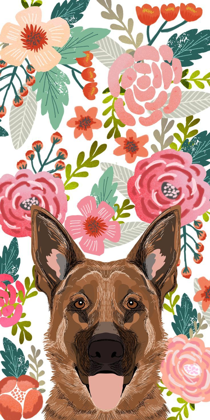 Casetify iphone art design animals wallpaper ideas wallpapers pinterest animal and wallp  also dogs floral crown rh
