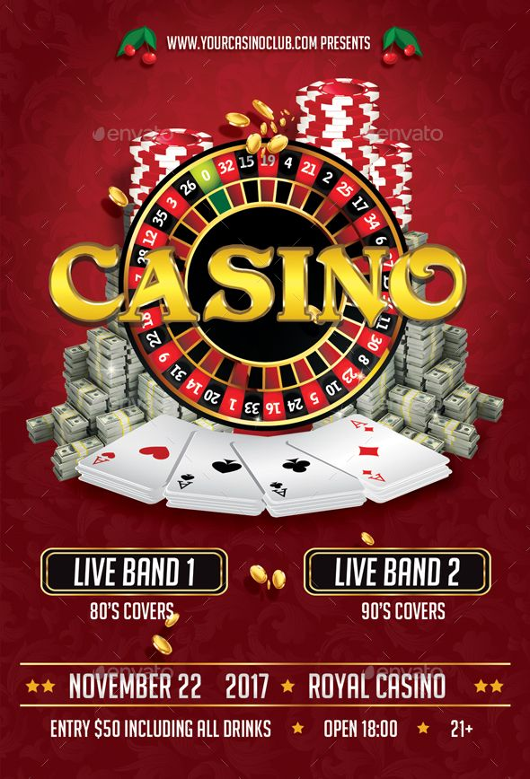 Casino Flyer Flyer Template Font Logo And Fonts - Money flyer template
