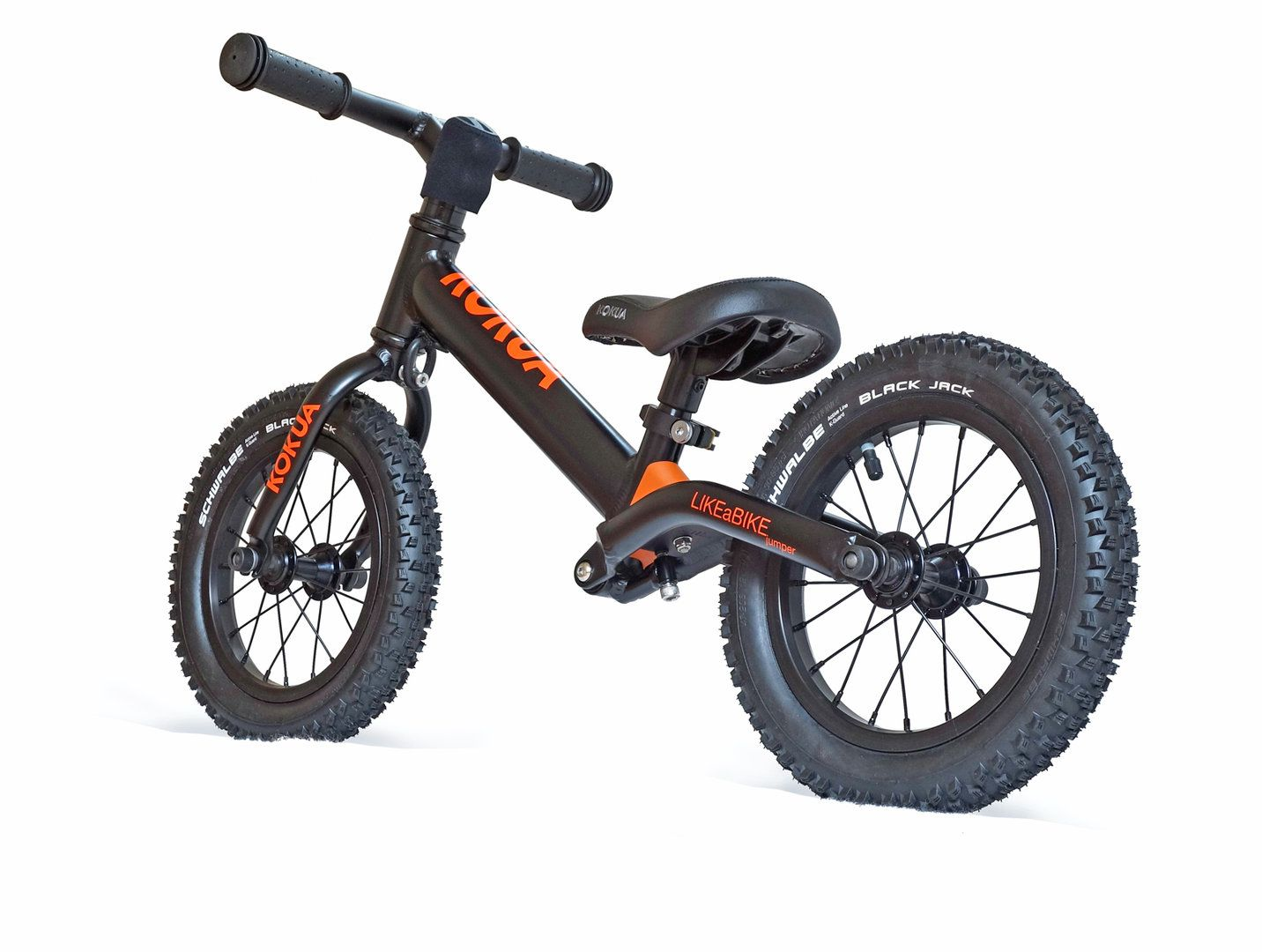The ALL NEW model at LIKEaBIKE ALL BLACK with Schwalbe
