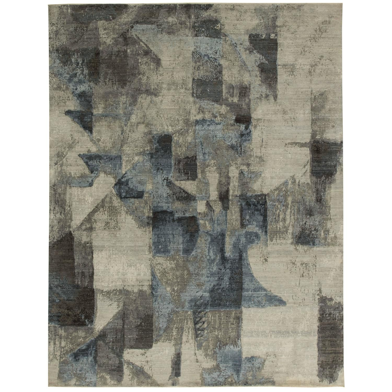 Deco Design Rug | See more antique and modern Chinese and East Asian Rugs at https://www.1stdibs.com/furniture/rugs-carpets/chinese-rugs