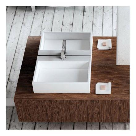 Vasque à poser en résine ronde 40x40x47 cm, Lara