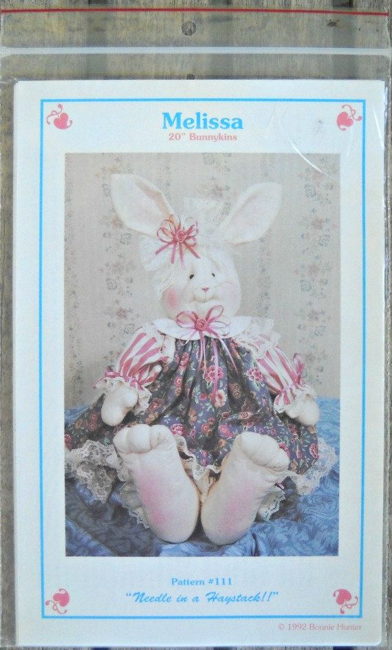 Melissa 20 Bunnykins Doll Pattern Needle in a by CurlicueCreations, $3.83