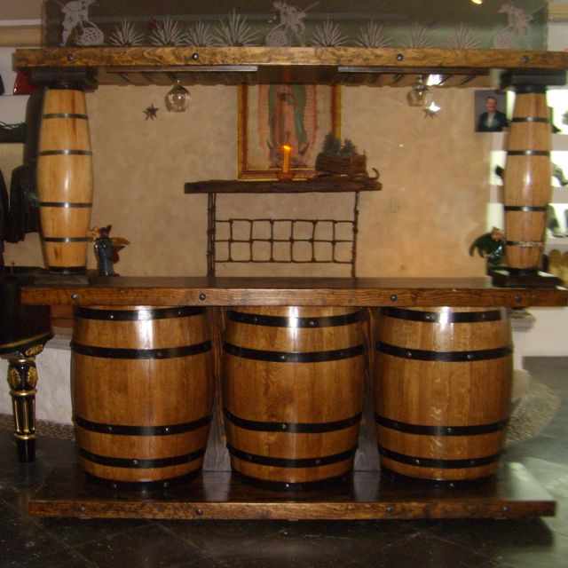 Barrel Table And Chairs For Sale: Barrel Bar, Wine
