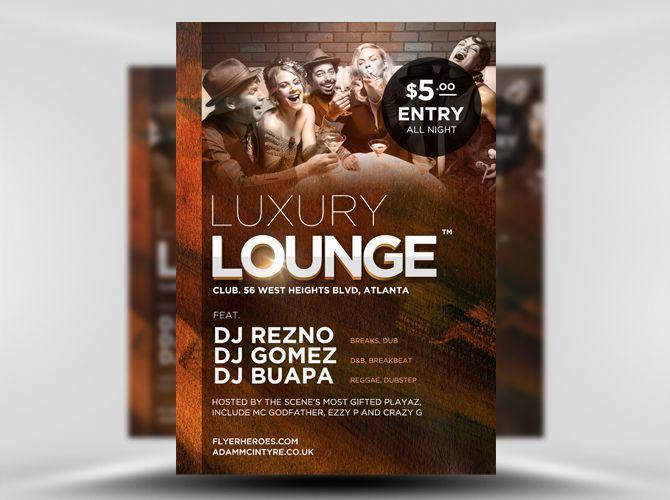 Luxury Lounge Free Flyer Template HttpsNoobworxComStoreLuxury