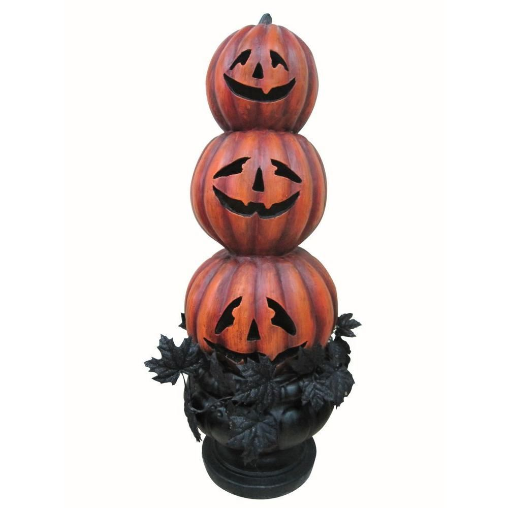 Here\'s a cute jack-o\'-lanterns topiary that\'s not so scary. Color ...