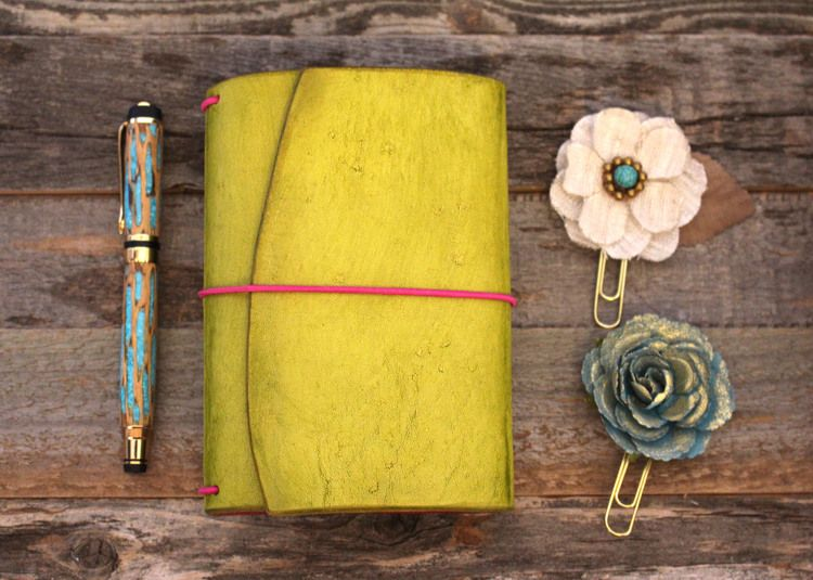 Travelers Notebook Field Note Wrap Leather Quill from The Leather - field note