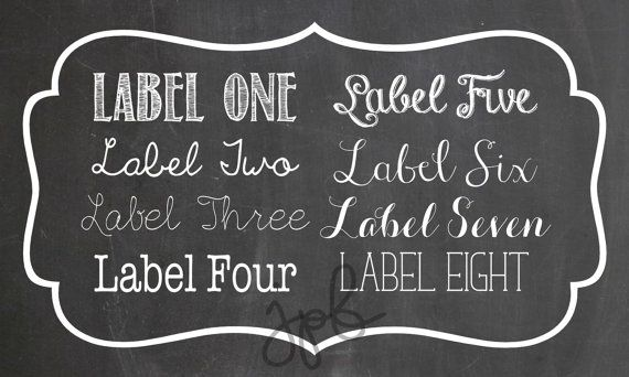 Vintage Border Labels 10  5x3 by MyAesthetic on Etsy