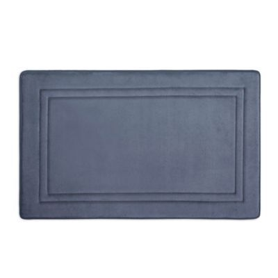 Smart Dry 21 X 34 Memory Foam Bath Mat In Medium Blue Memory