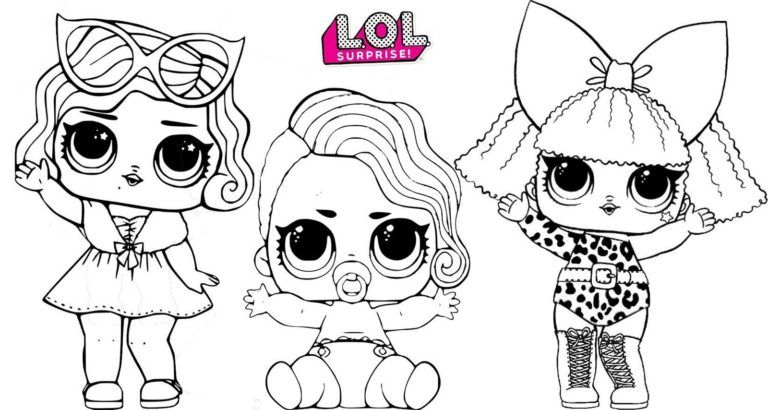 Lil Pearl Diva And Leading Baby Lol Surprise Coloring Page Copy Cute Coloring Pages Coloring Pages Lol Dolls