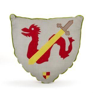 coussin chevalier Coussin en forme d'écusson de chevalier Chevalier   Les tapis  coussin chevalier