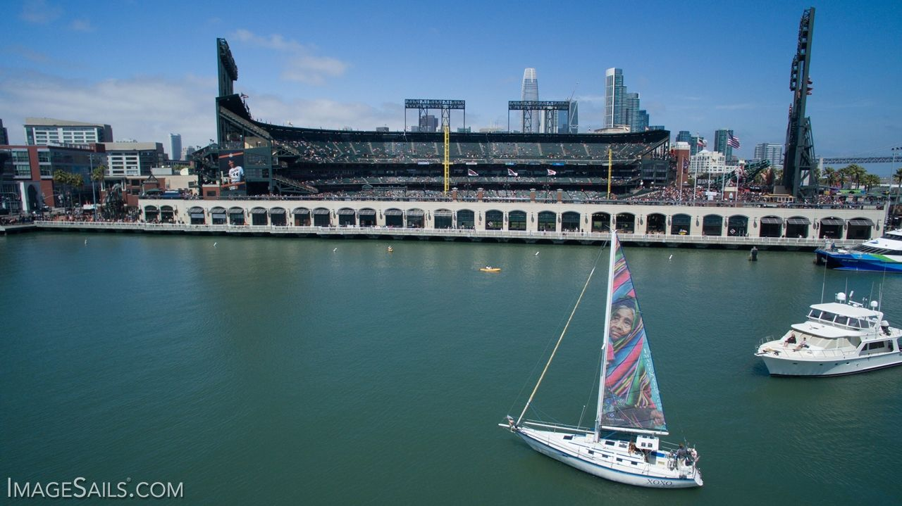 Imagesails at giants game att park