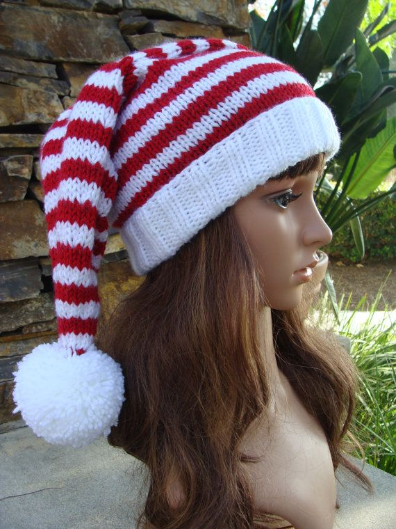 69d67034dd9 PATTERN 55  Ho Ho Ho Red and White Striped Santa by IKnit4aCure