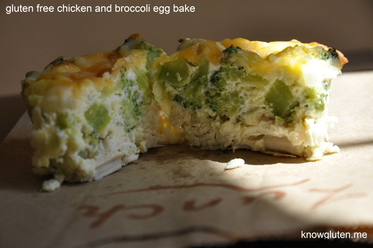 Gluten Free Chicken and Broccoli Egg Bakes