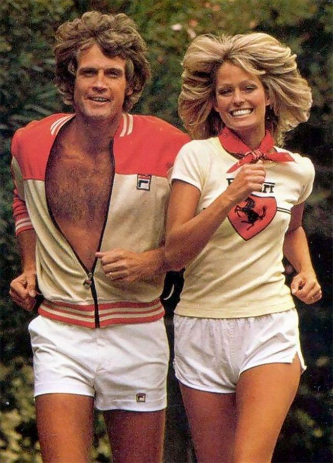 Чудеса 70-х: спортивная мода | Фарра фосетт, Кинозвезды ...
