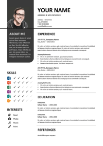 Bayview Free Resume Template Microsoft Word Gray Layout Resume Template Resume Template Free Resume Templates