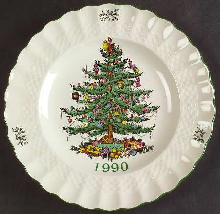 Spode Christmas-Tree 2020 Annual Edition Christmas-Plate; White, Green And Red Spode Christmas Tree (Green Trim) at Replacements, Ltd   Page 6 in