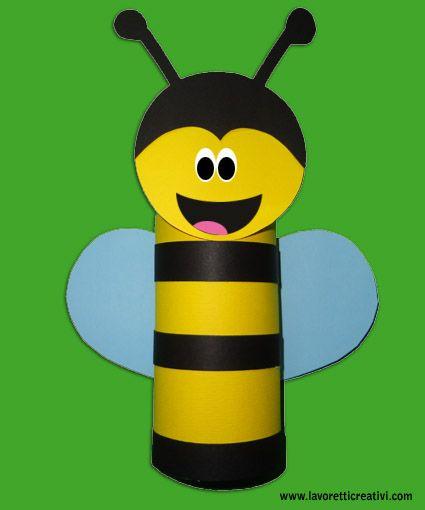ape-lavoretti con rotoli carta igenica   paper tube   pinterest ... - Animali Con Tubi Di Carta Igienica