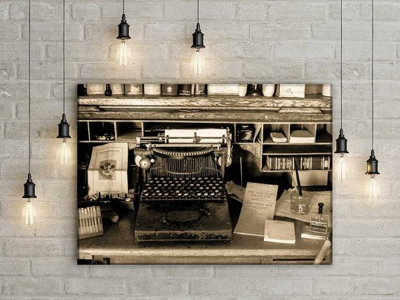 Rustic Photography, Vintage Typewriter Photo, 19th Century Doctors, Gothic  Wall Art, Office