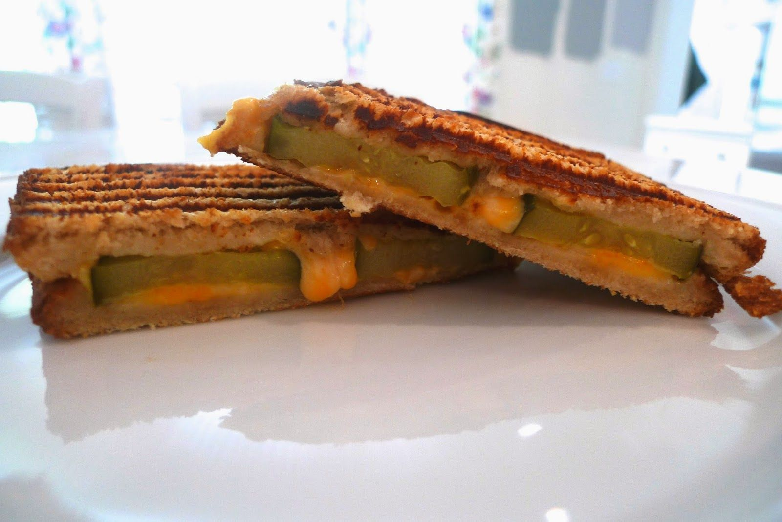 siriously delicious grilled cheese and pickle panini