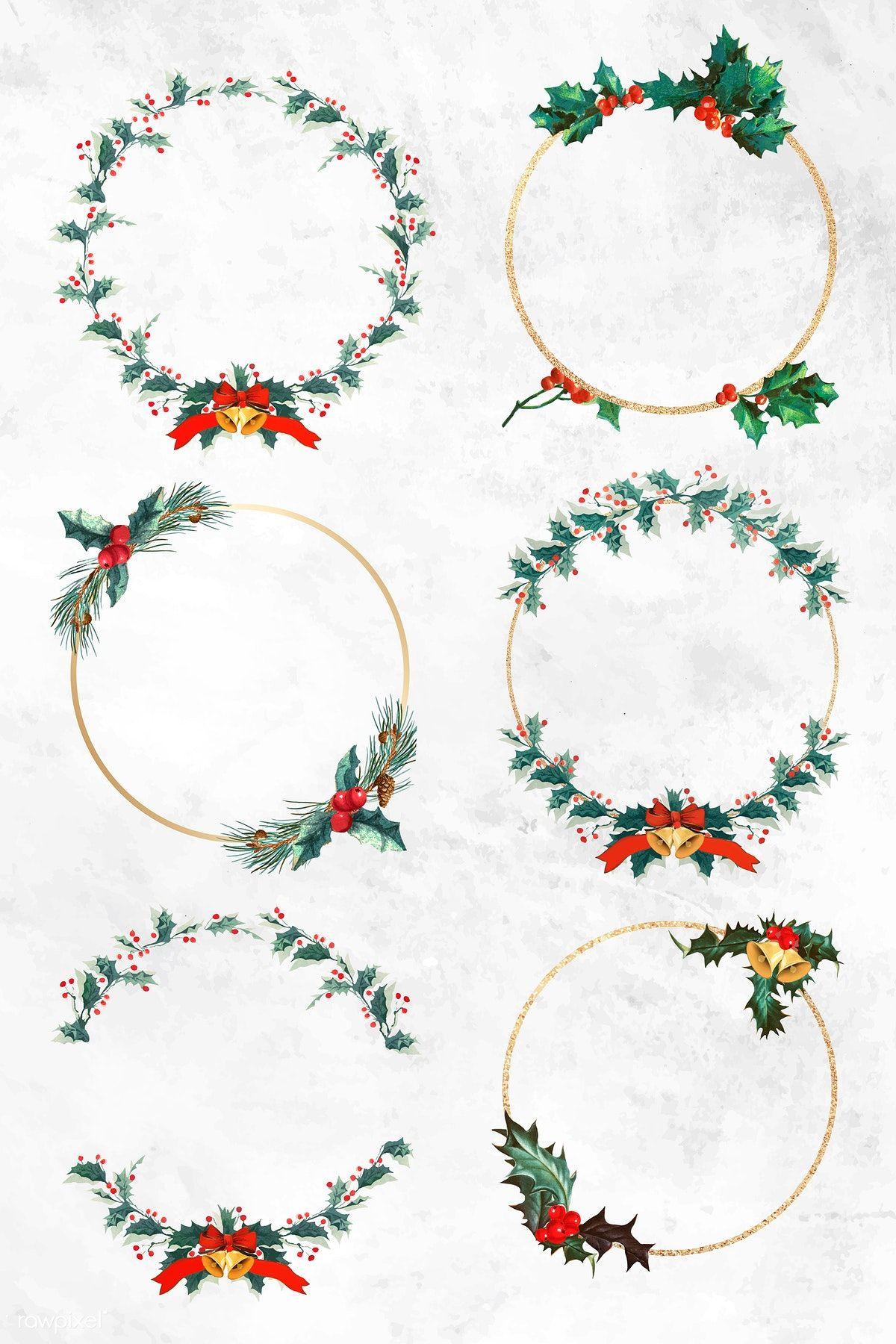 Download premium vector of Blank Christmas wreath vector