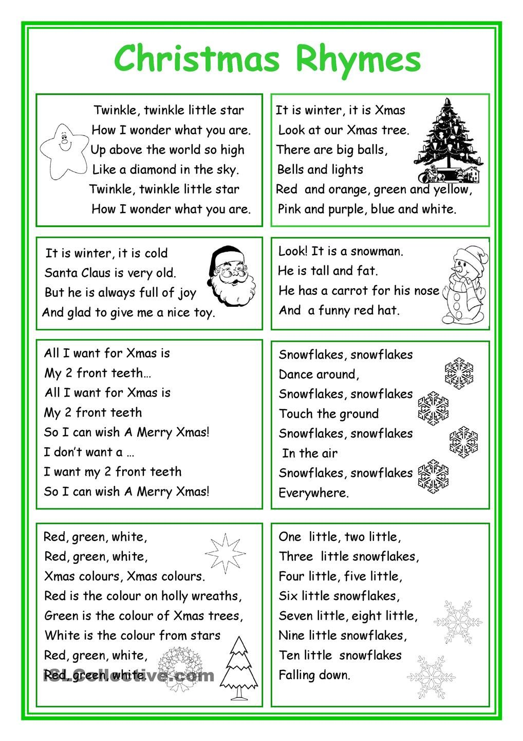 Christmas Rhymes | Christmas Lessons | Pinterest | Christmas ...
