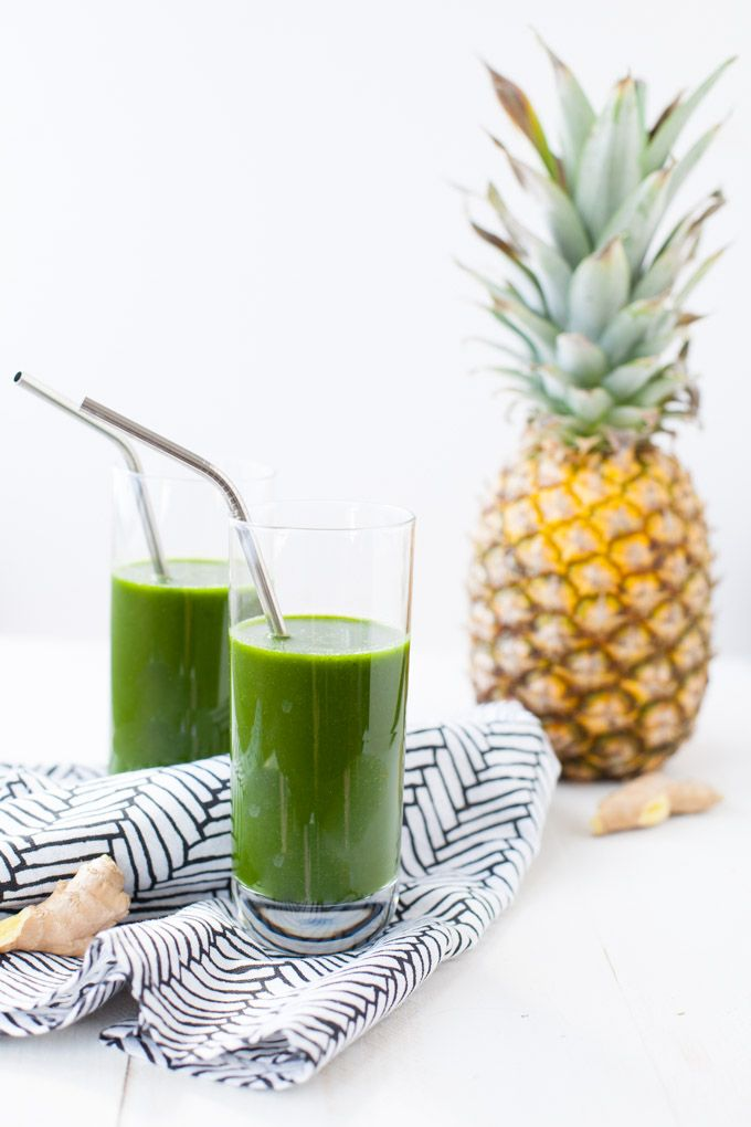 Cold Fighting Tropical Green Juice found in Nourish Your Namaste e-book