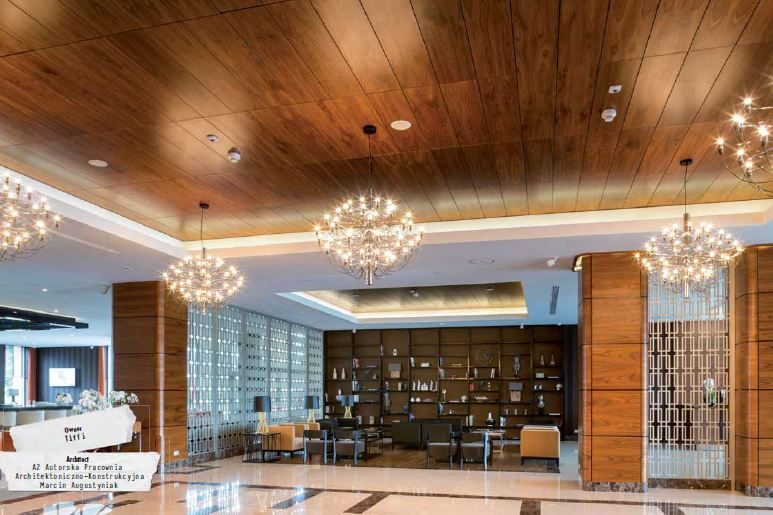 Armstrong Ceilings timber style metal ceiling  - Grand Hotel in Ilawa