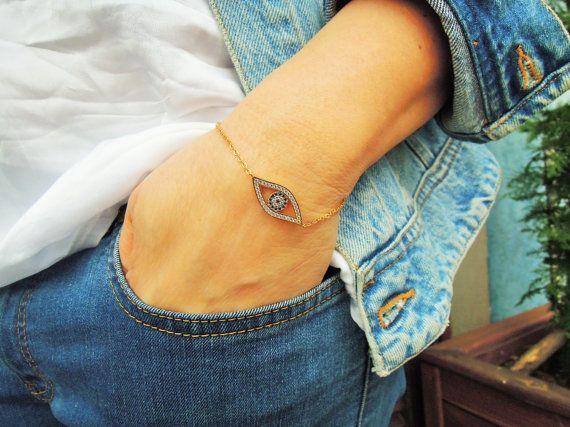 Evil Eye Bracelet  Best Friend Jewelry  friendship by ebrukjewelry