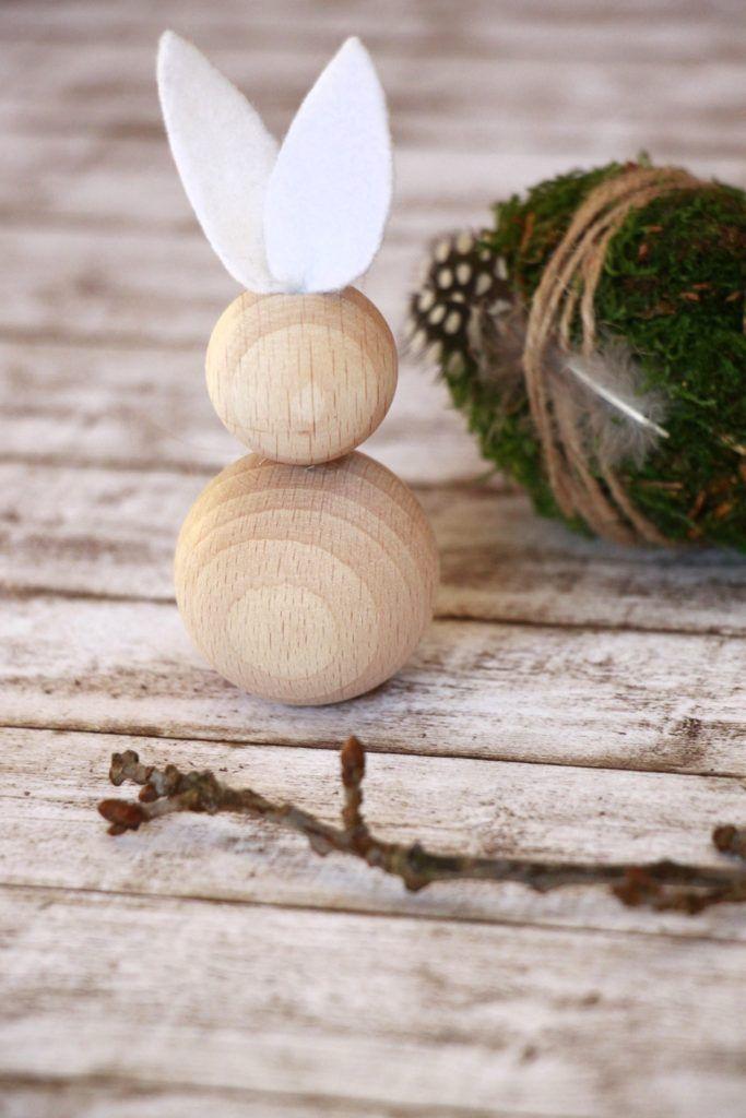 Osterbasteln: Ideen für Osterhasen aus Holzkugeln – Lavendelblog