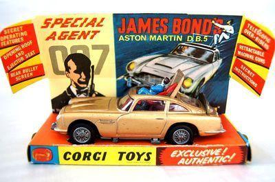 Vintage Corgi 261 007 James Bond Aston Martin Db5 Diecast Car 1965 Uk Toy Corgi Toys Toys Aston Martin Db5