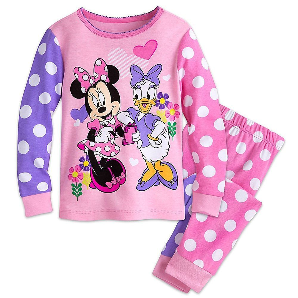 FREE Ship! NEW Disney Minnie Mouse /& Daisy Duck 4-Piece Pajamas 2 Sets 2T-4T