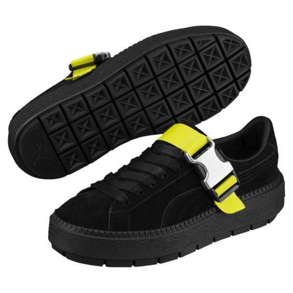 55e6b3798 Platform Trace Buckle Women's Sneakers, Puma Black-Puma Black, medium size  8.5
