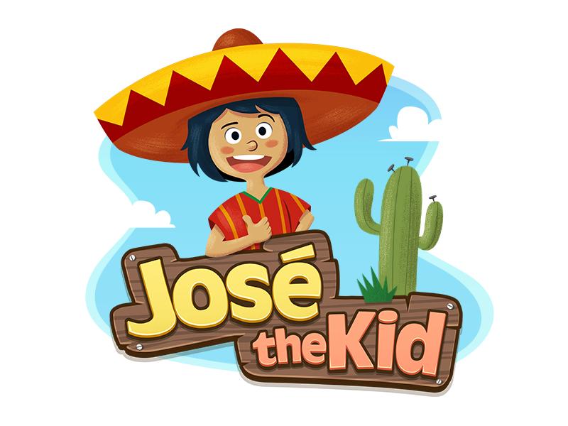 José The Kid vinyl sticker Happy logo, Game design