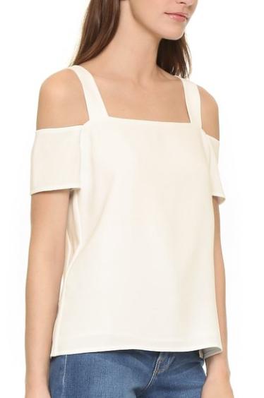 cold-shoulder blouse in white by Cooper & Ella -- courtesy of Stitch Fix