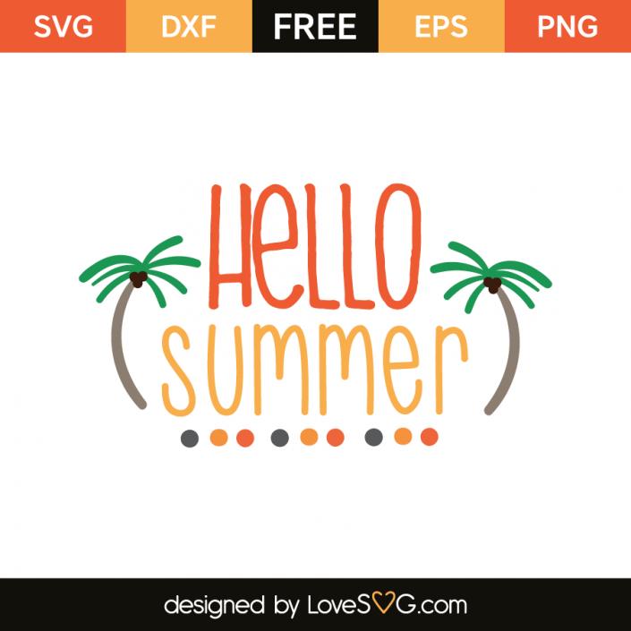 Hello summer | Circuit | Hello summer, Svg files for cricut
