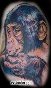 realistic monkey tattoo - Google Search