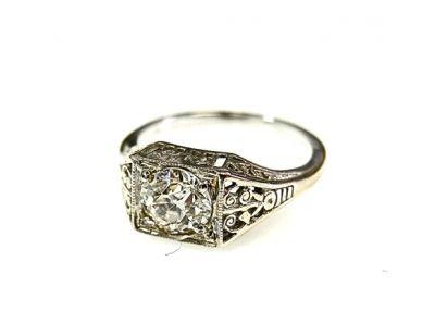 Vintage Art Deco 1.00ct Diamond Ring