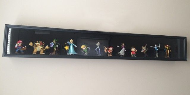 Get a stylish wall display case for your amiibo collection
