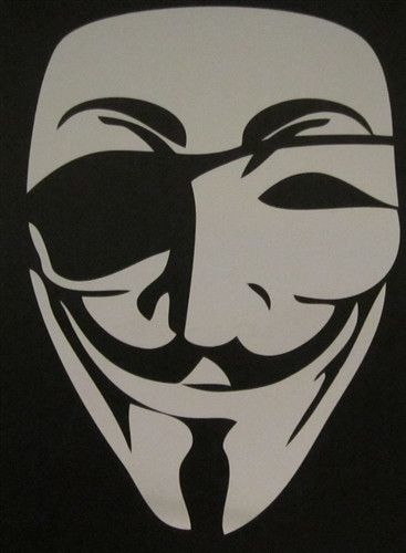 Anonymous pirate eye guy fawkes mask die cut vinyl sticker decal