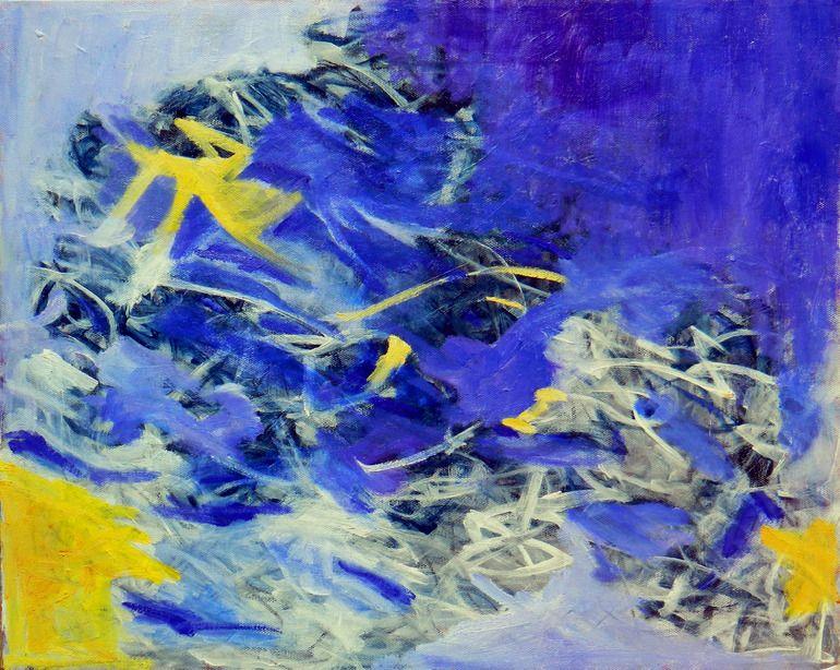 "Saatchi Online Artist: Aida Markiw; Oil, 2012, Painting ""Blueberry Crush"""