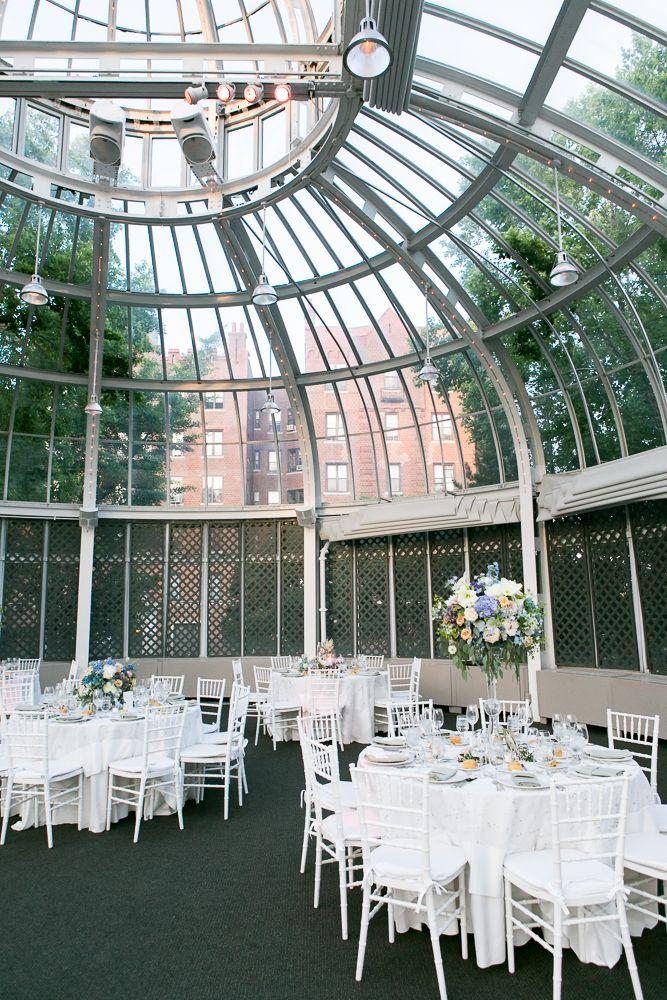 White Wedding Reception at Palm House White weddings