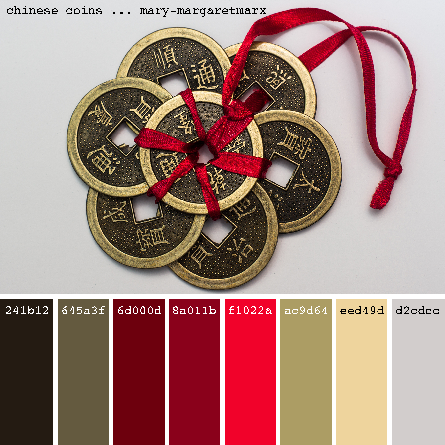 Chinese Coins Mary Margaretmarx Color Colors Colour