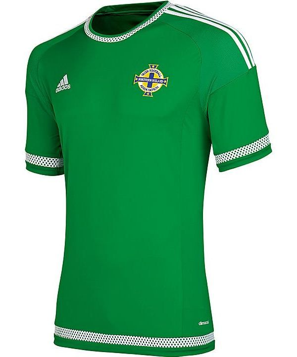 d97bbfb17 This is the new Northern Ireland home kit 2015, the Northern Irish football  team's new shirt for the 2015 international season. Made by Adidas, the  shirt ...