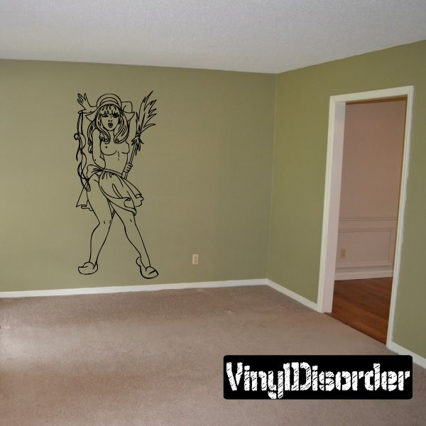Pinup Girl Wall Decal - Vinyl Decal - Car Decal - DC 23034