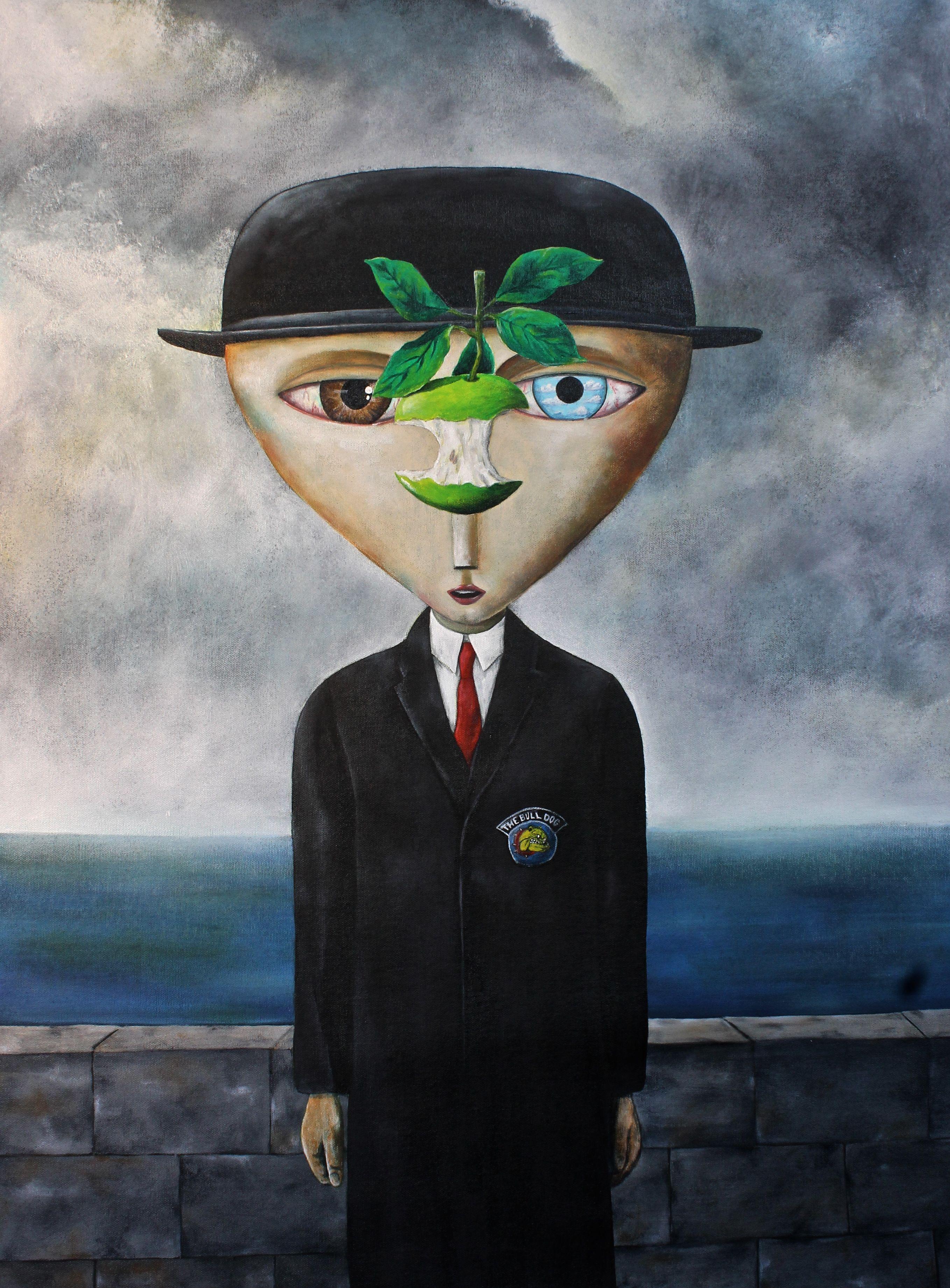 The Son Of Man Smokes René Magritte