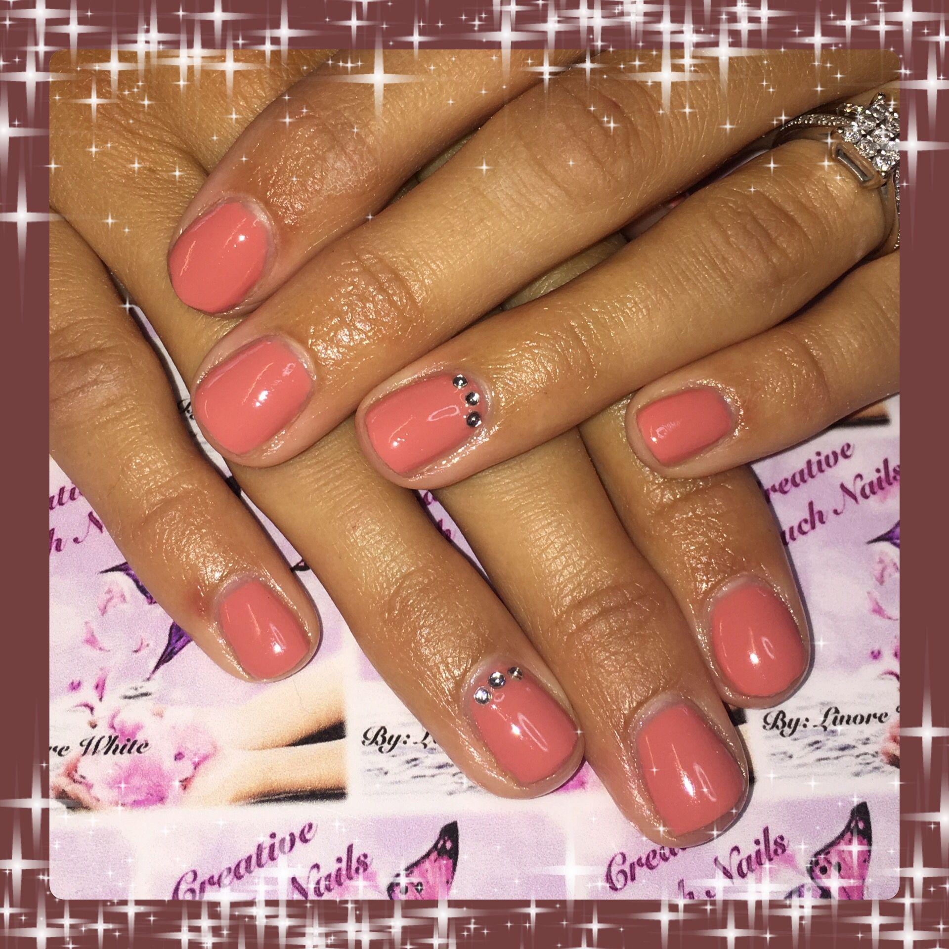 Salmon pink shellac set