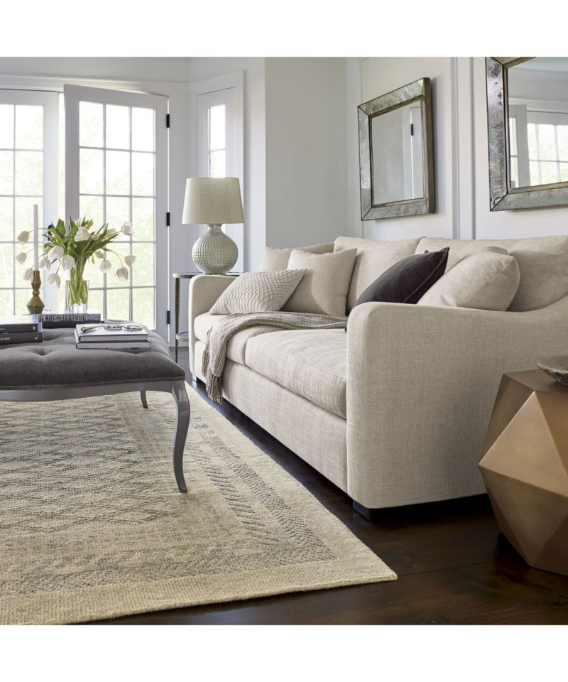Crate And Barrel Verano Sofa Pine Table Love How Large Cozy The Is Gives A Very Warm Welcoming Vibe