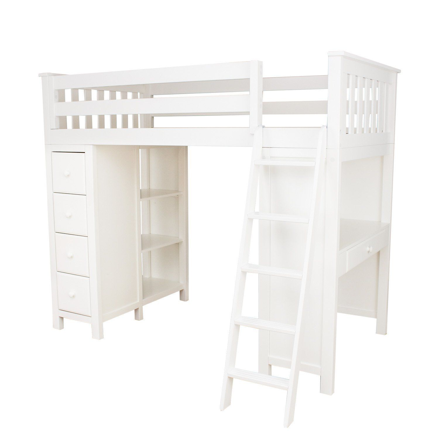 Plank Beam Combo Loftbed Dresser Desk White Loftbedroom Bunkbeds Bunk Smallspacehacks Smallspace Twin Loft Bed Bed With Drawers Low Loft Beds